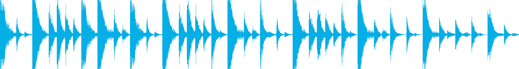 ドラムンベースのリズムループパターン#2の再生済みの波形