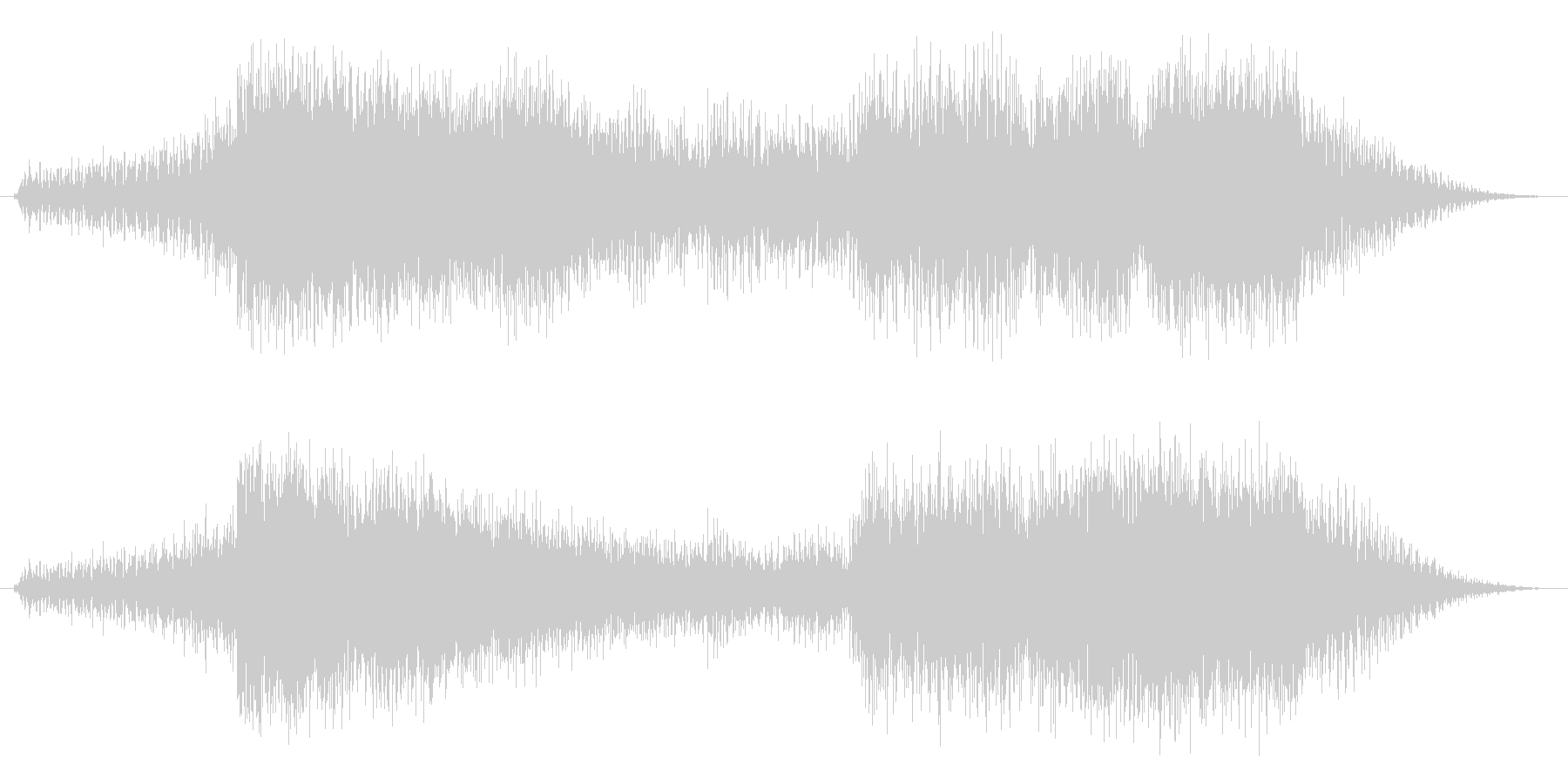 ホルンでゴージャス、でもあっさり終わる…の未再生の波形