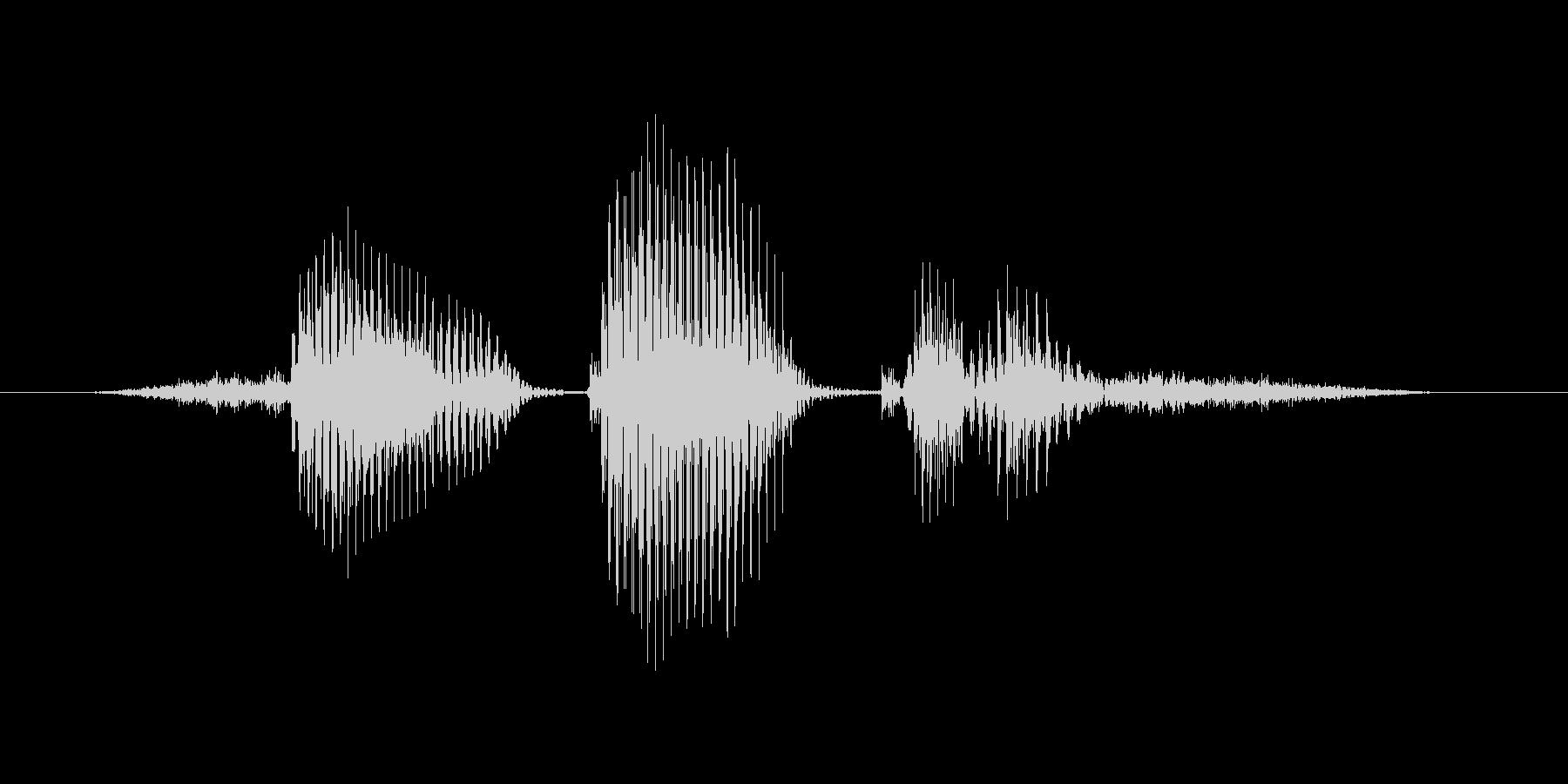 センタークロスの未再生の波形