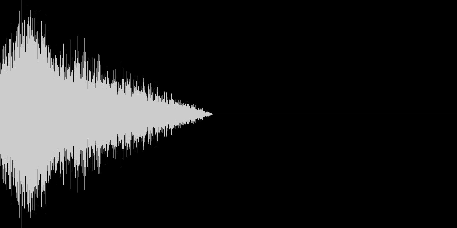 ロックマン風バスターチャージ音の未再生の波形