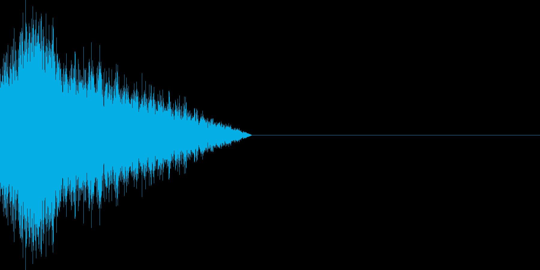 ロックマン風バスターチャージ音の再生済みの波形