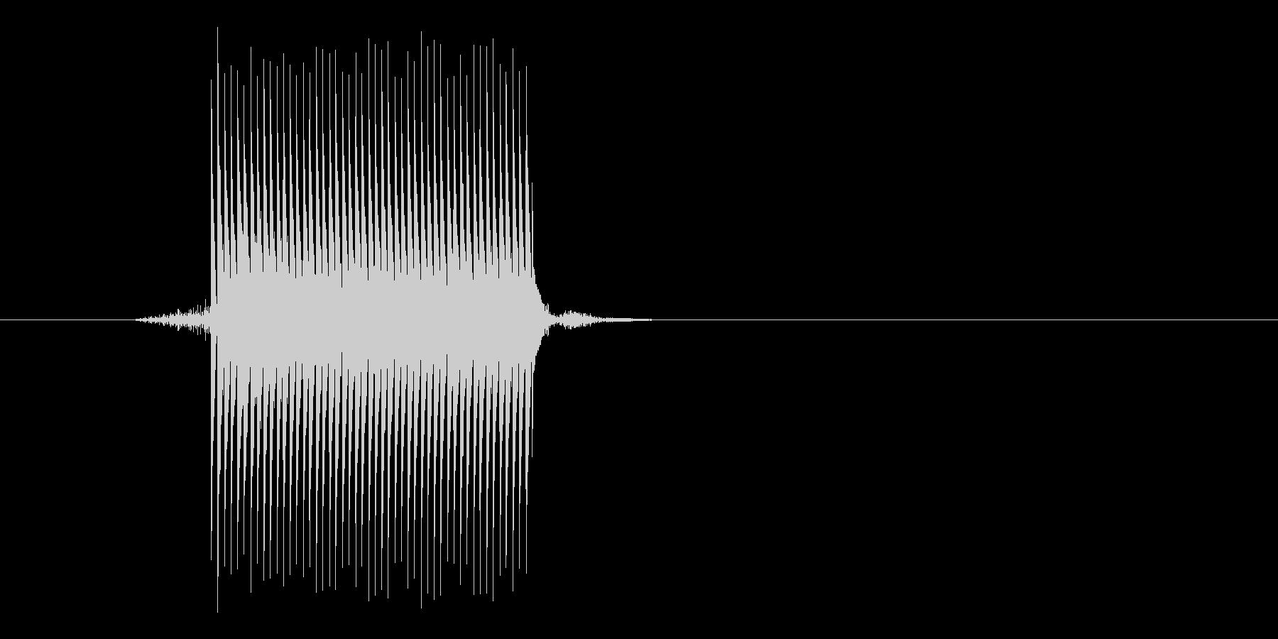 ゲーム(ファミコン風)セレクト音_033の未再生の波形