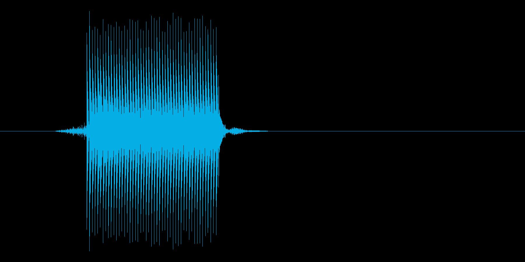 ゲーム(ファミコン風)セレクト音_033の再生済みの波形