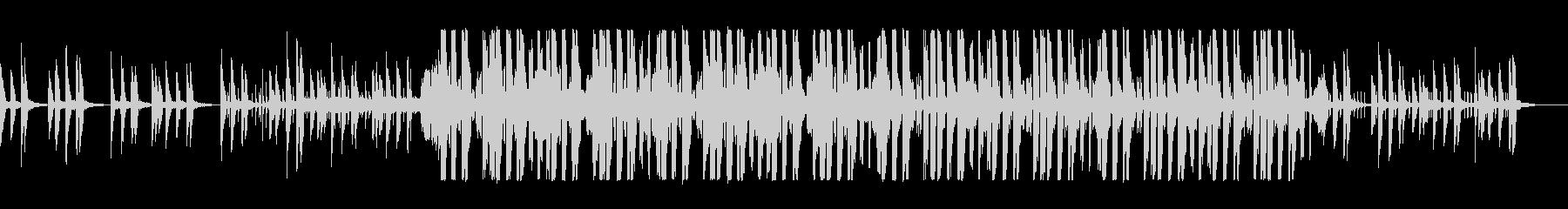デジタルシンセのエレクトロポップスの未再生の波形
