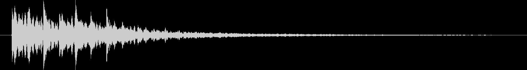 シンセ系電子音の未再生の波形