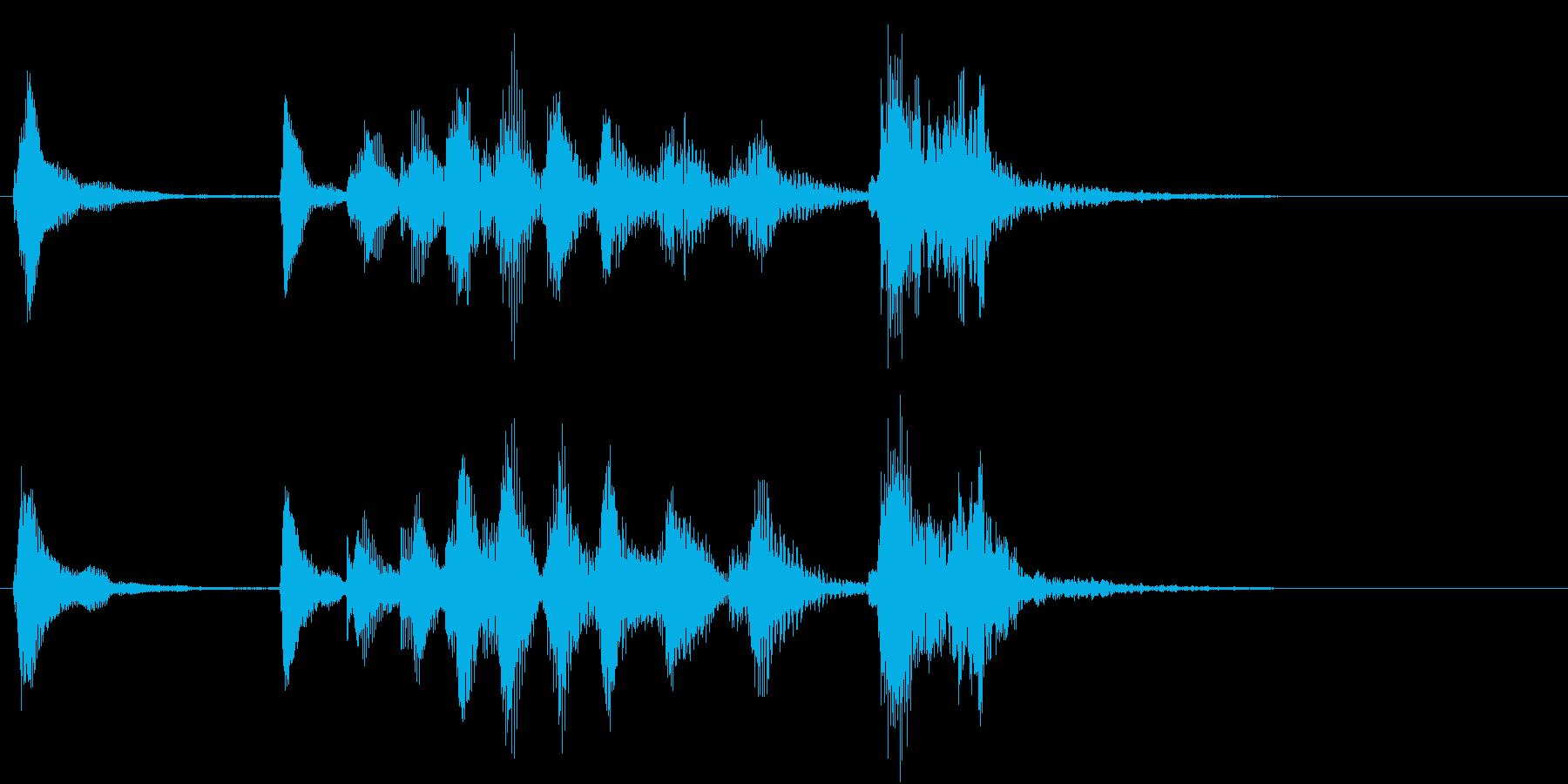 トムとジェリー風なアニメ音楽「忍び足」7の再生済みの波形