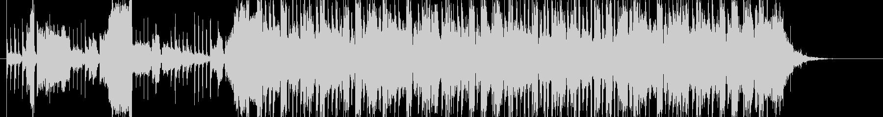 メカニックな雰囲気のサウンドロゴの未再生の波形