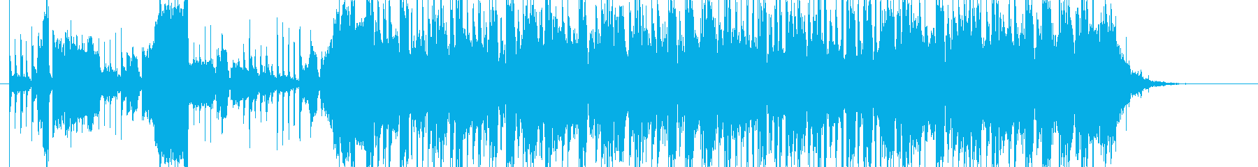 メカニックな雰囲気のサウンドロゴの再生済みの波形