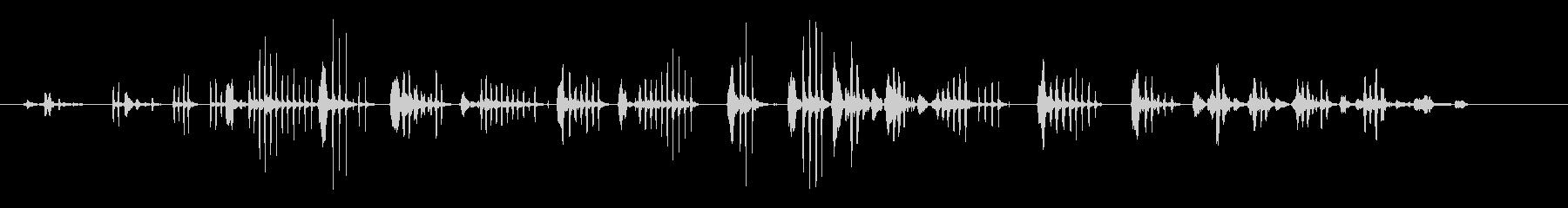 笑い-女性の未再生の波形