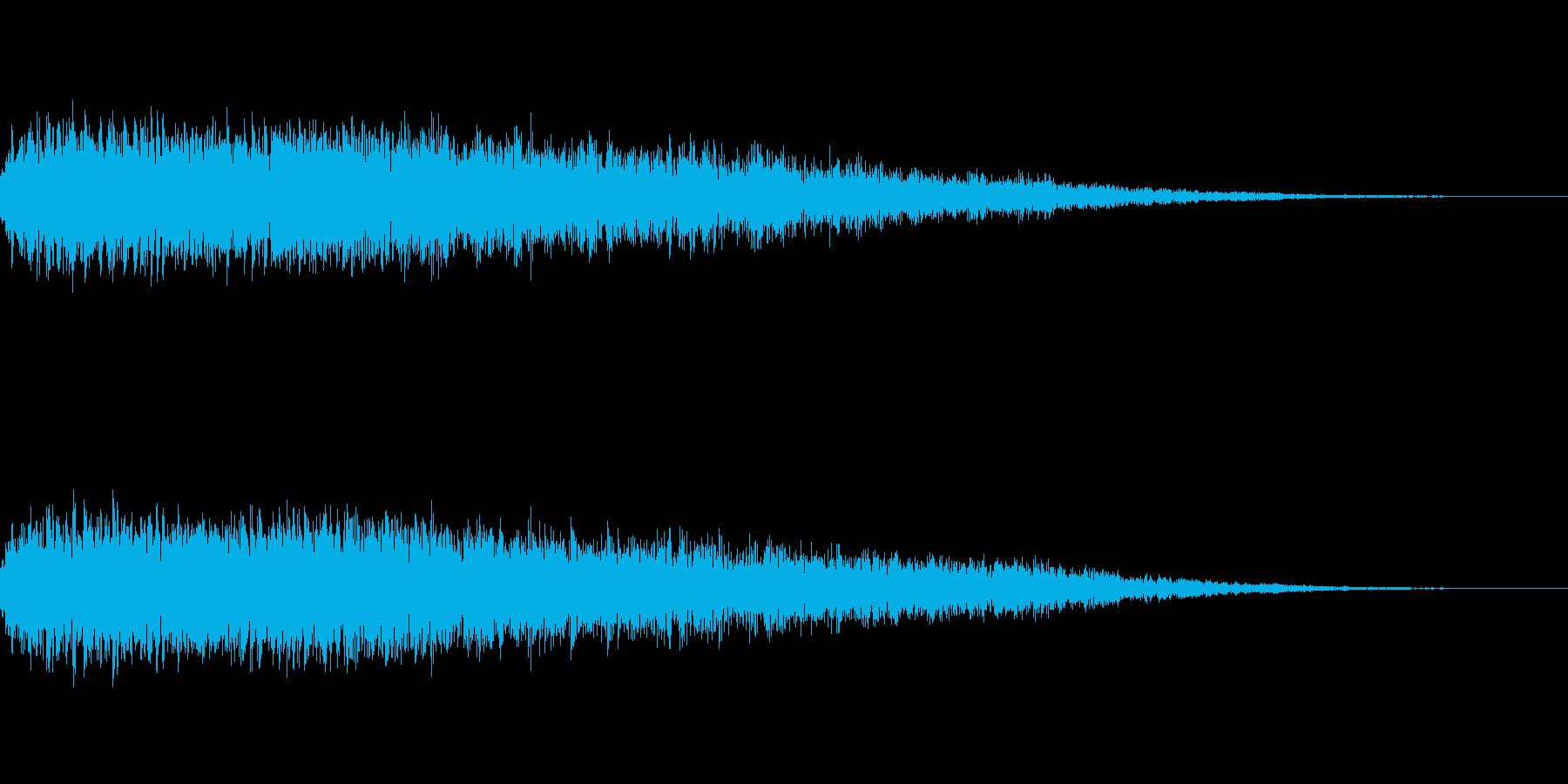 [ガキーン]豪快な一撃(鋭く派手に)の再生済みの波形