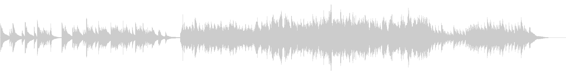 ドラマチックに展開するピアノバラードの未再生の波形