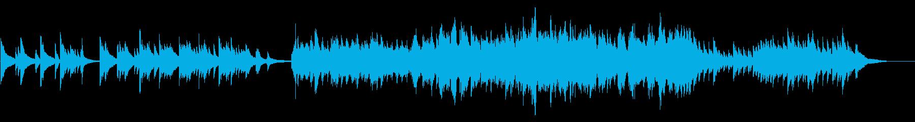 ドラマチックに展開するピアノバラードの再生済みの波形