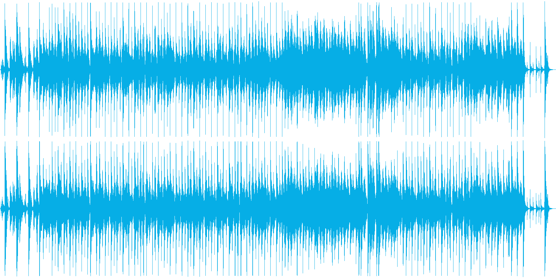 軽快なリズムのおしゃれなジャズの再生済みの波形