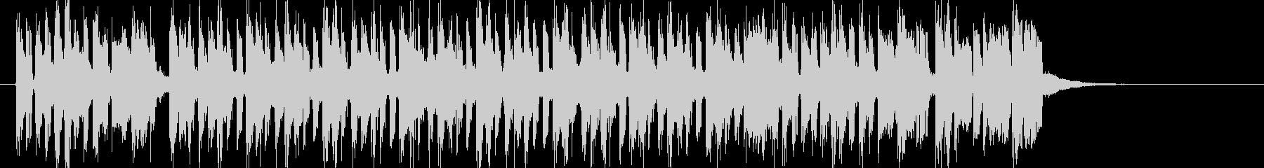 軽快でキャッチーなシンセジングルの未再生の波形
