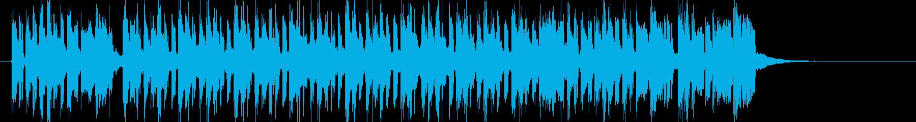 軽快でキャッチーなシンセジングルの再生済みの波形
