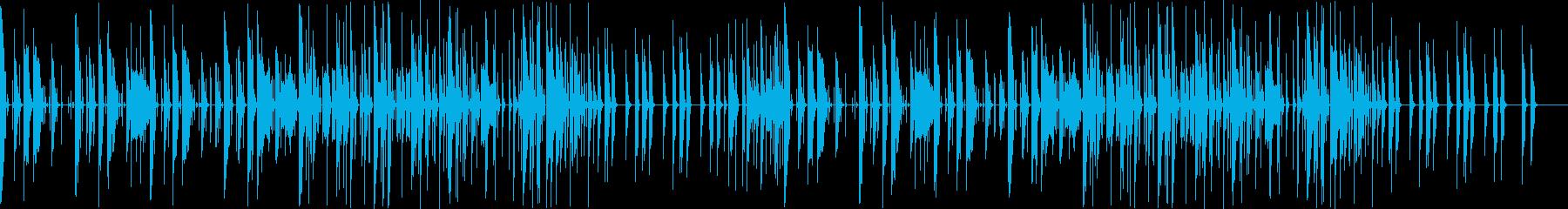コミカル調の可愛いポップスの再生済みの波形