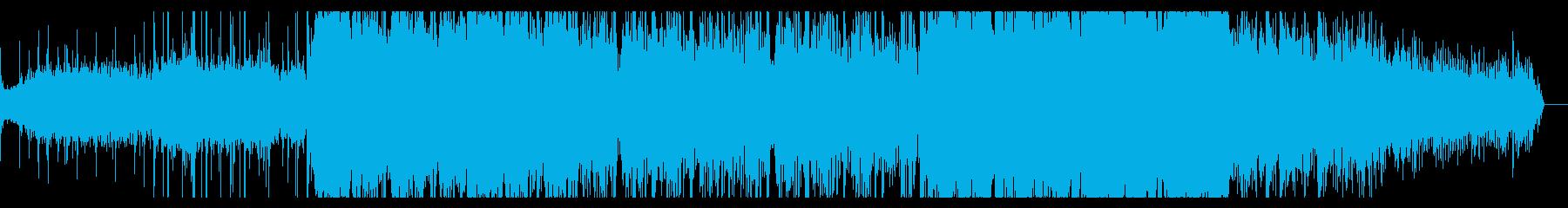 陰鬱でノイジーなテクスチャの再生済みの波形