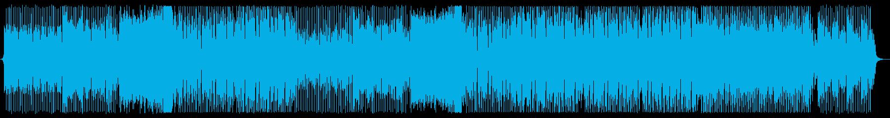 力強いテクノミュージックの再生済みの波形