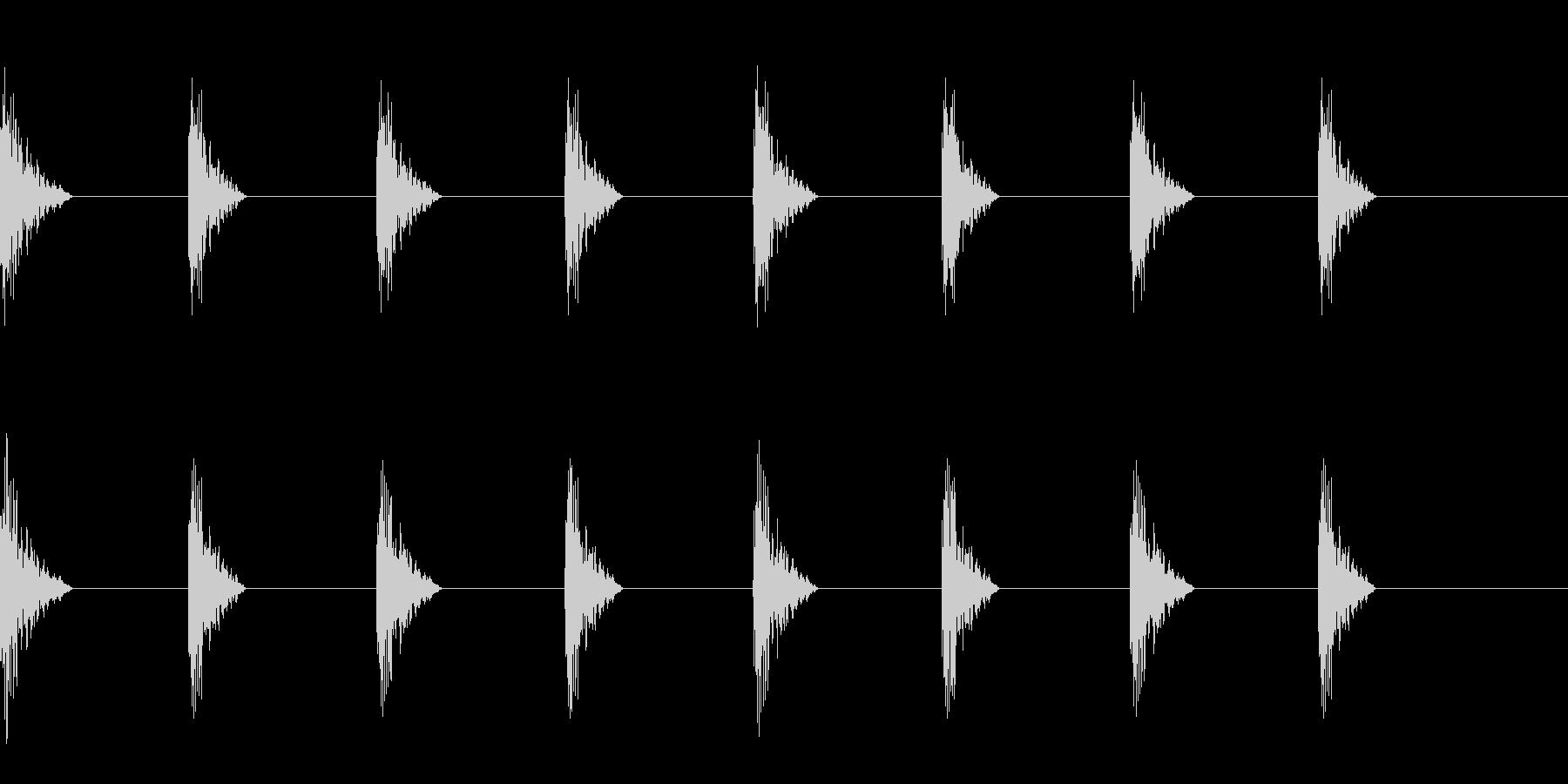 どすん(巨人、歩く、足音)A24の未再生の波形