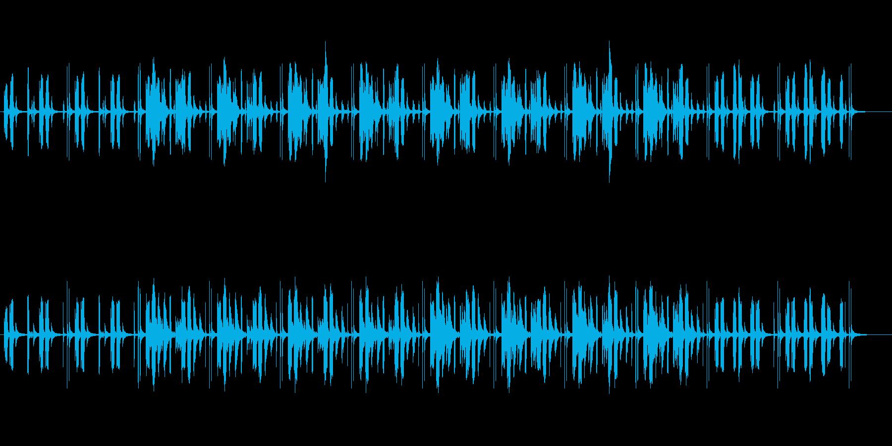 気の抜けた脱力系なBGMの再生済みの波形