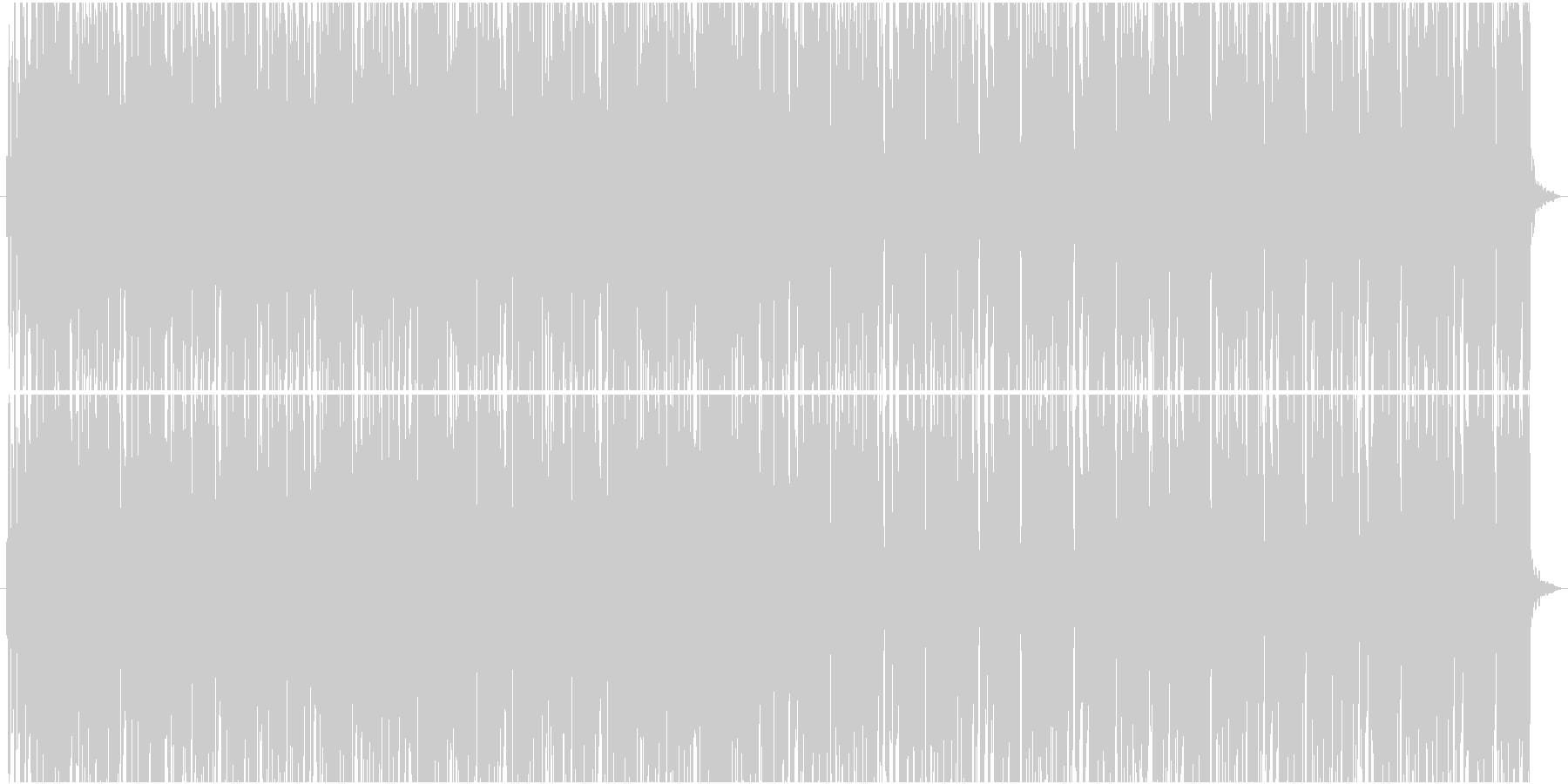 TikTokにありそうなパリピ系EDMの未再生の波形