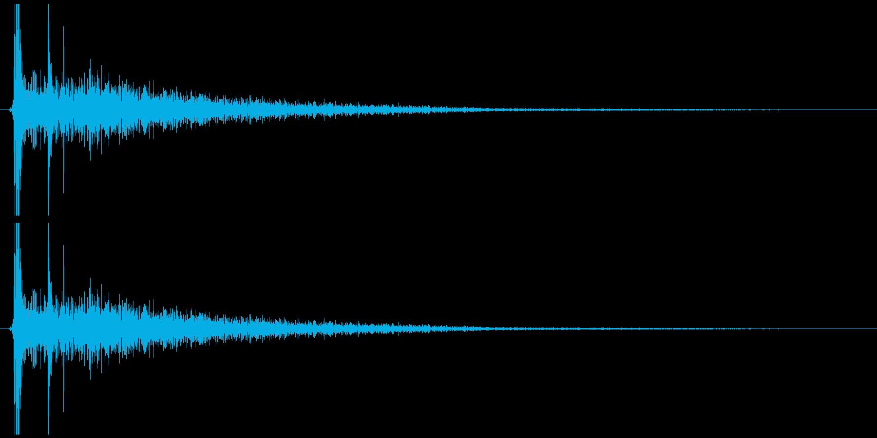 小さい金属を置く音の再生済みの波形