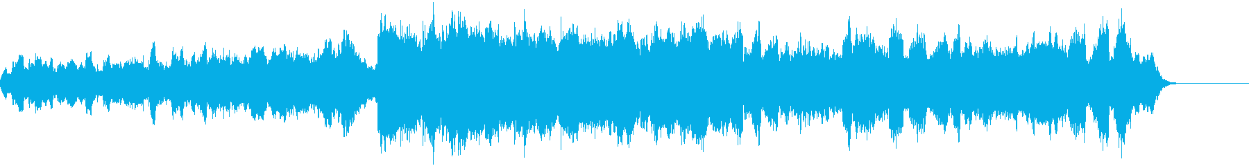 いろいろな表情を持った曲の再生済みの波形