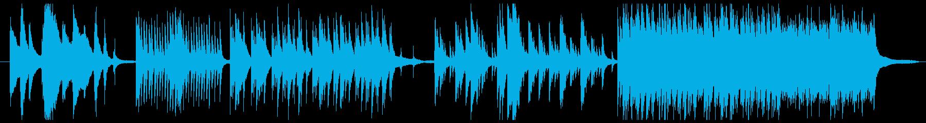 暗い雰囲気の映画的なピアノソロの再生済みの波形