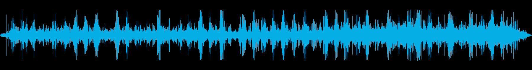 雨の日に歩く音の再生済みの波形
