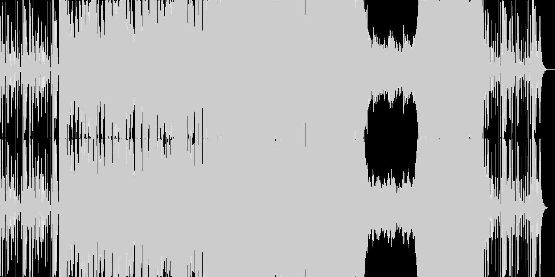 シンフォニックなダブステップの未再生の波形