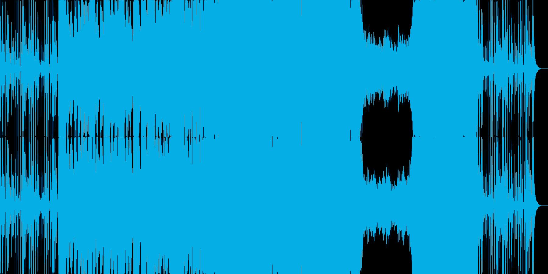 シンフォニックなダブステップの再生済みの波形