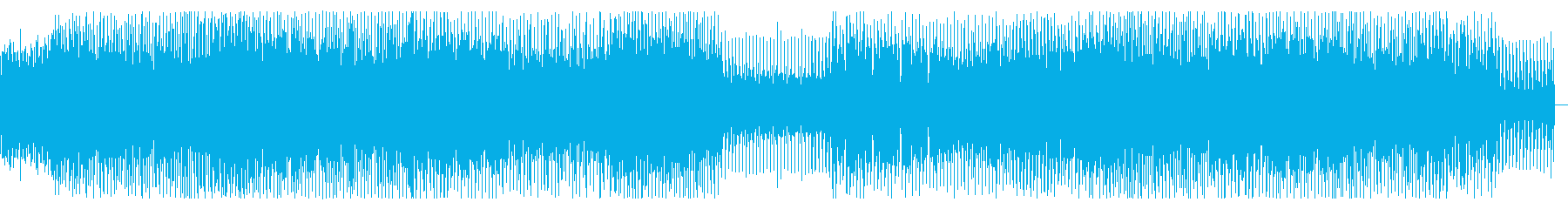 パワフルで疾走感のあるハウス・EDMの再生済みの波形