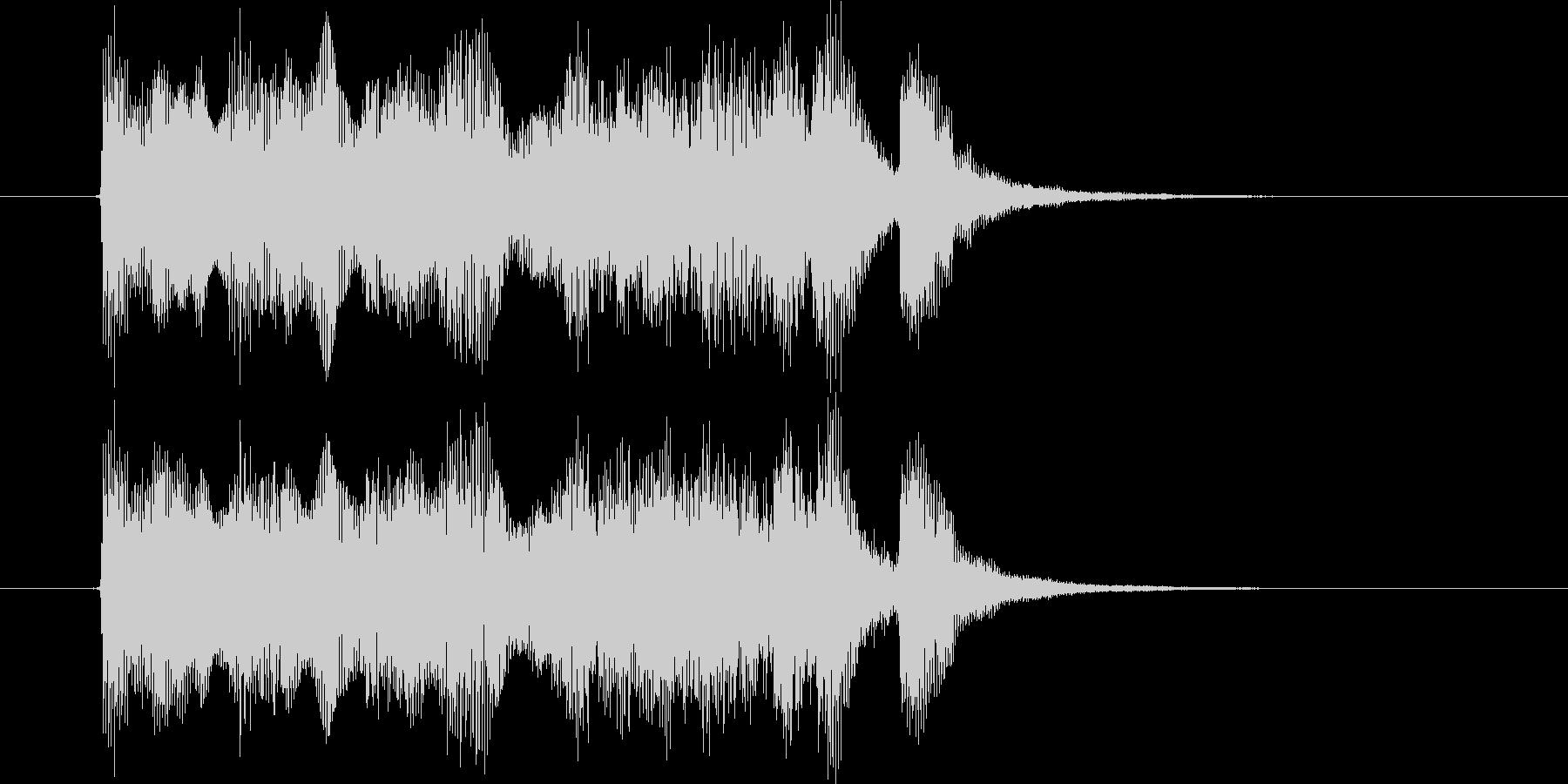 勢いのある明るいオーケストラの未再生の波形