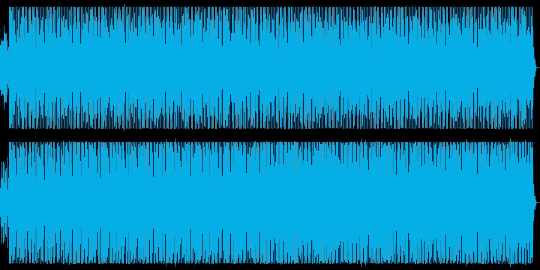 近未来的で緊迫感、緊張感のある楽曲の再生済みの波形