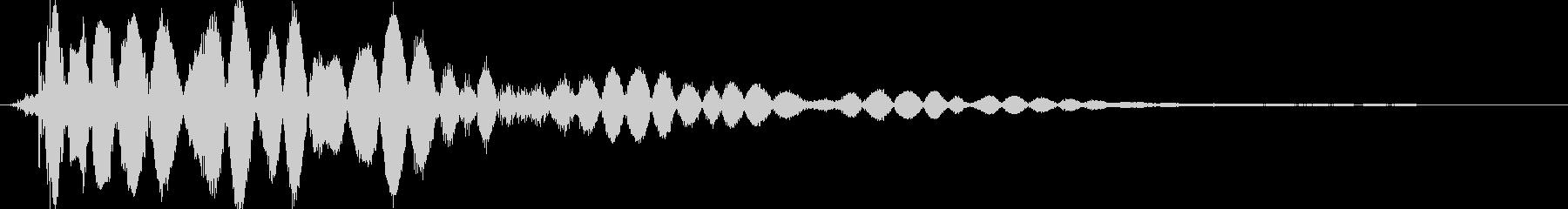 ヒットヒットインパクト6の未再生の波形