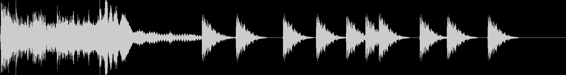 カチャン!ピピピピ(ロックオンする音)の未再生の波形
