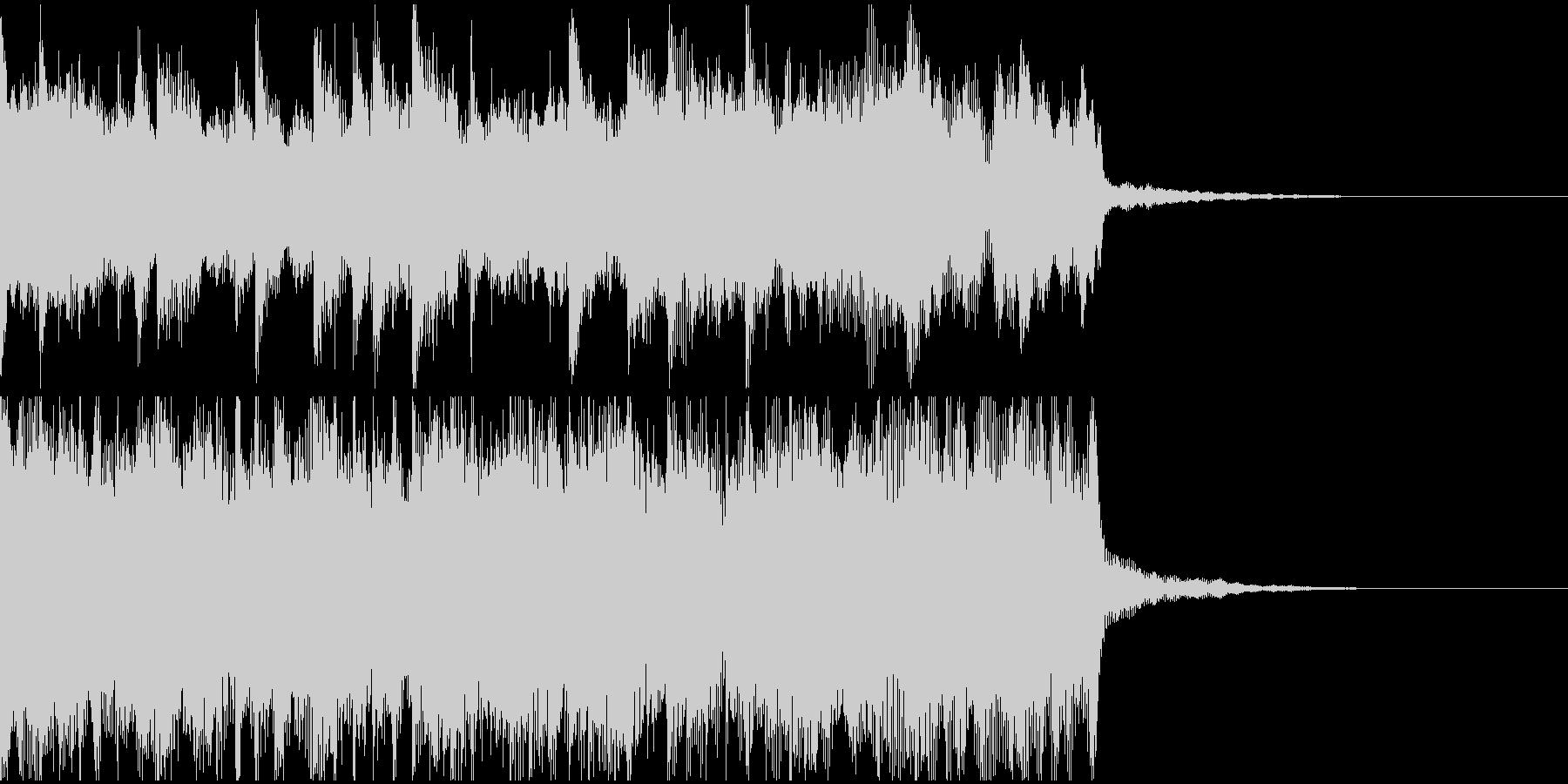ピアノの旋律が感動を呼ぶ印象的なロゴ音の未再生の波形