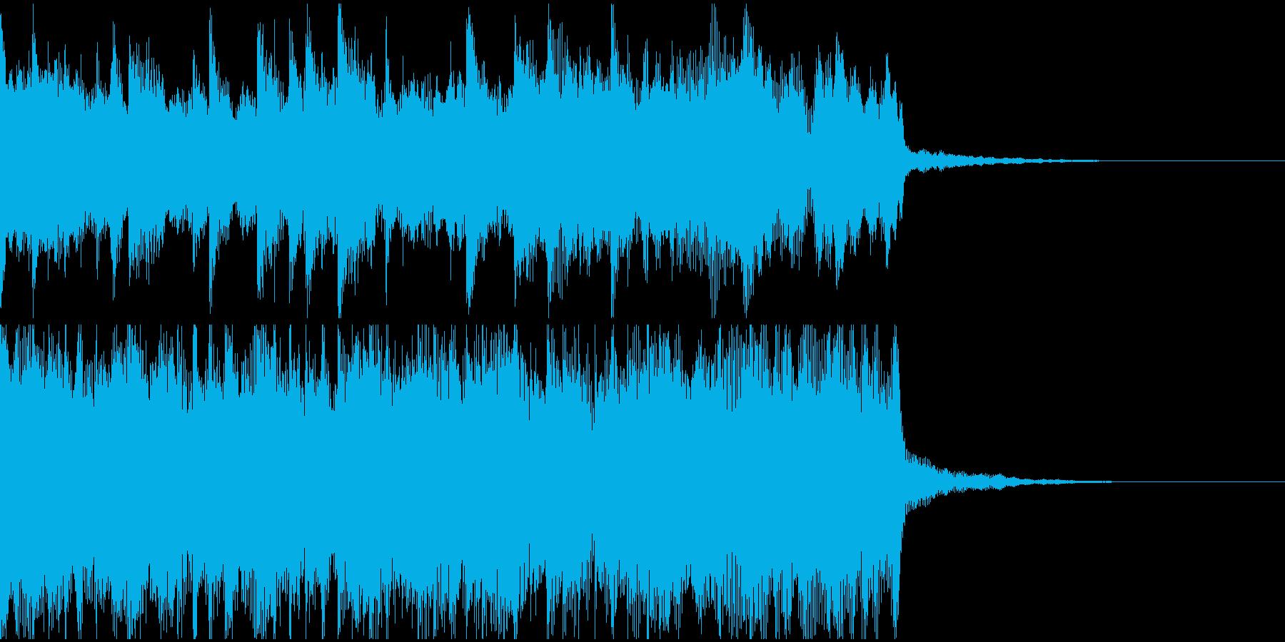 ピアノの旋律が感動を呼ぶ印象的なロゴ音の再生済みの波形