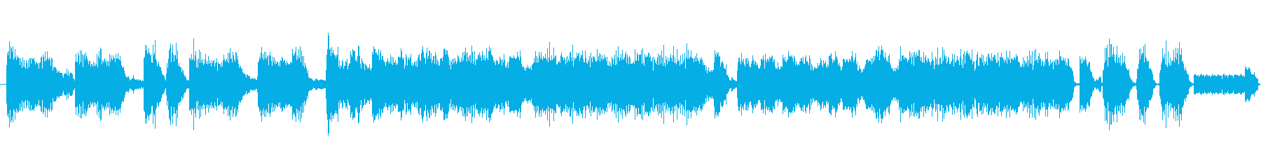 出囃子ロック入場CMオープニングテクノの再生済みの波形
