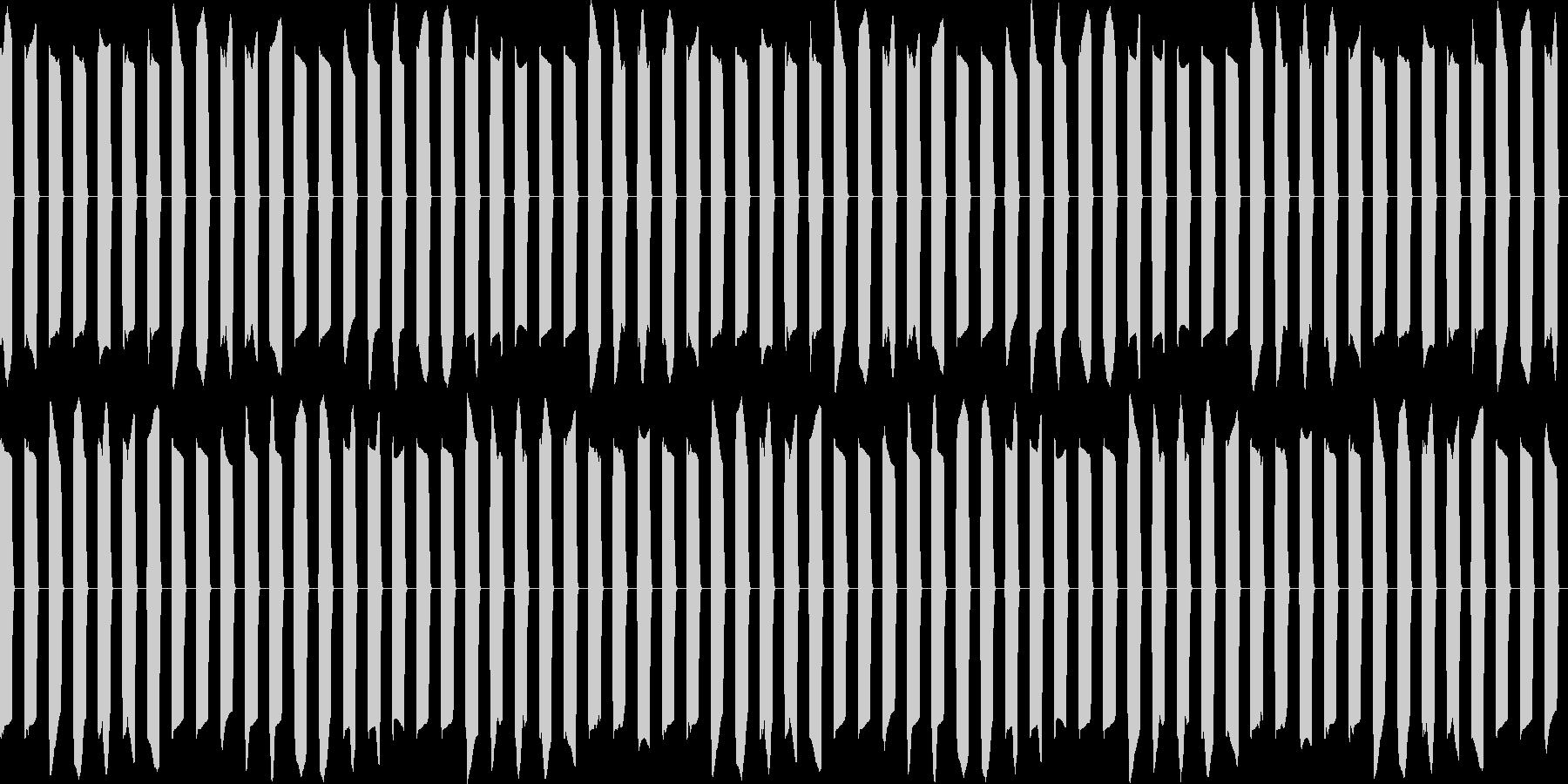 ピピピ...。アラーム・目覚ましB(長)の未再生の波形