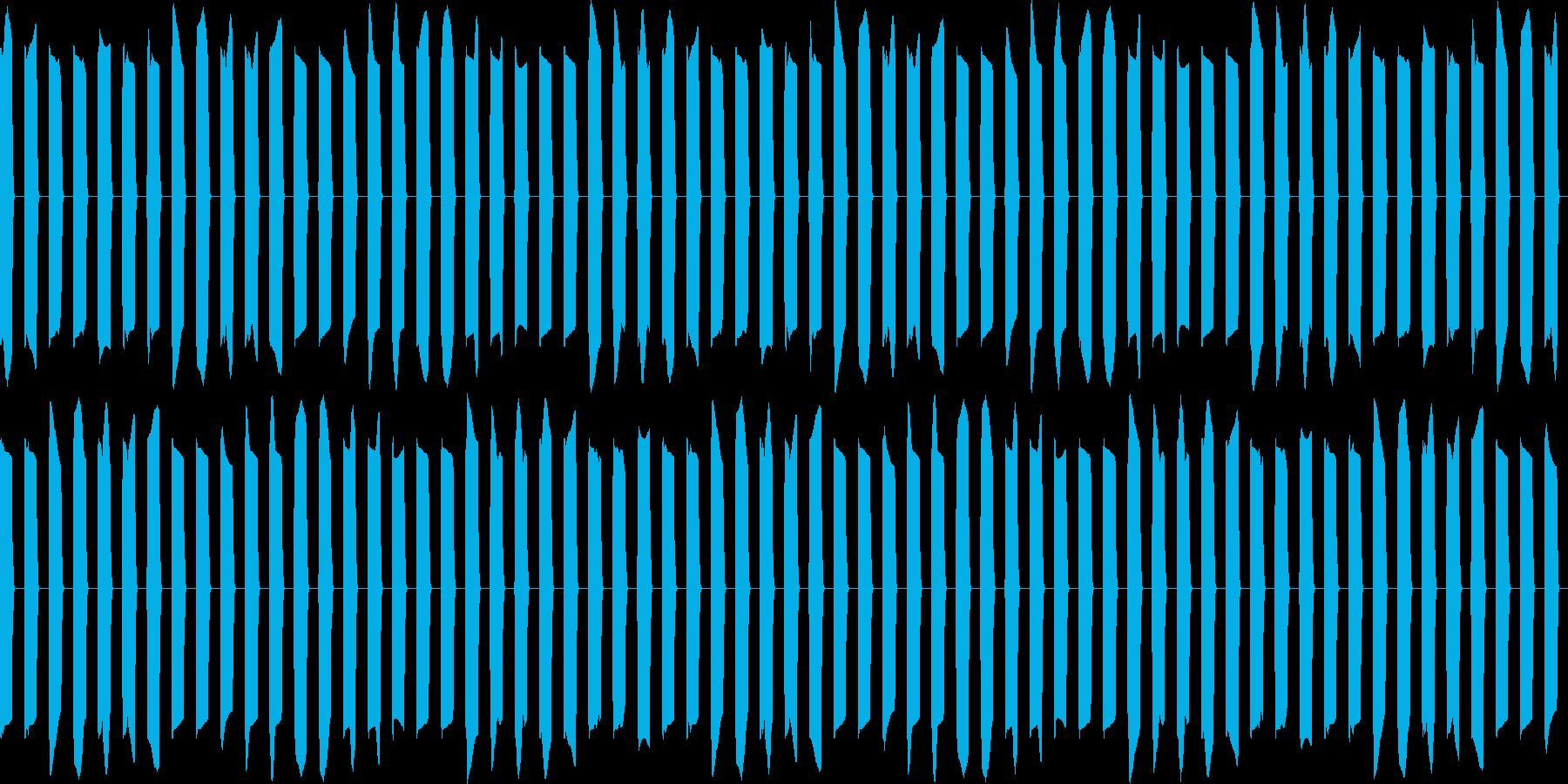 ピピピ...。アラーム・目覚ましB(長)の再生済みの波形
