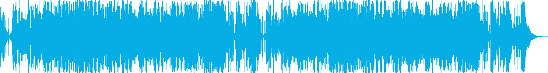 何かが起こりそうな、不安な音楽の再生済みの波形