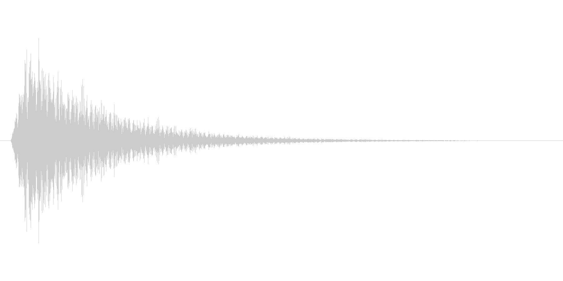 ビカーンの未再生の波形