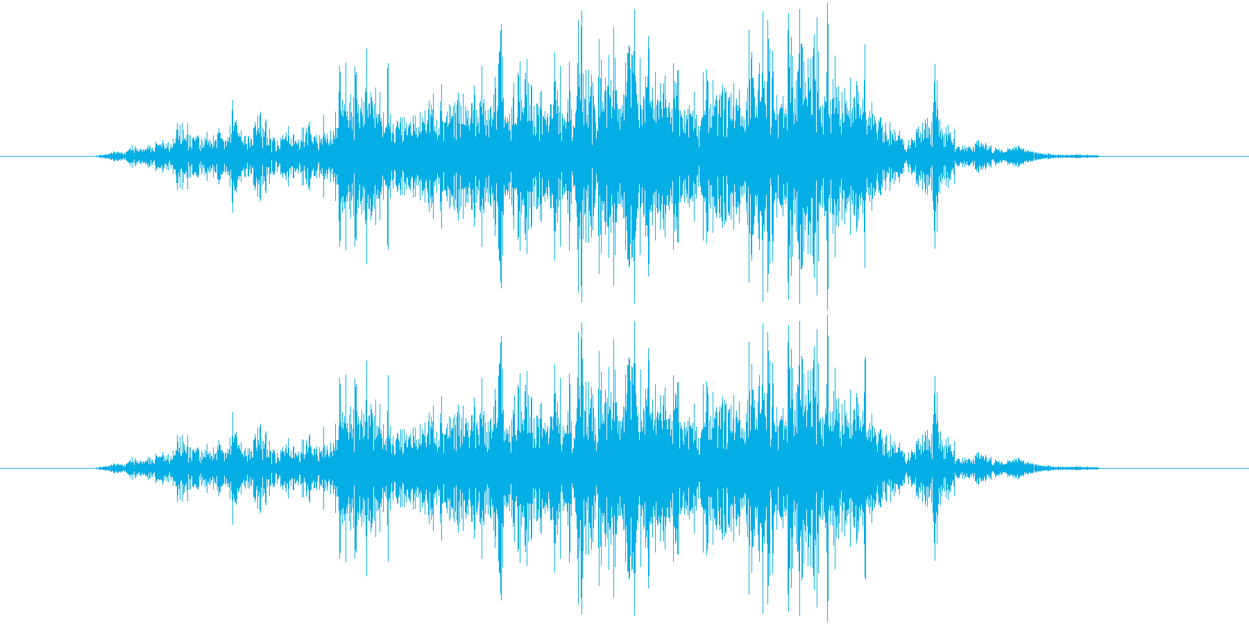 ベリの再生済みの波形