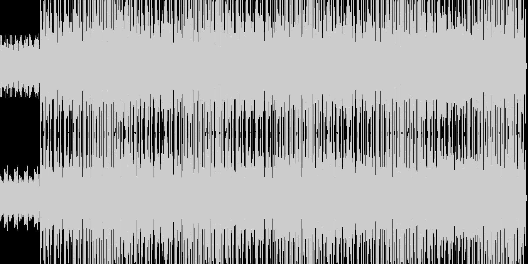 ピアノが光るヒップホップの未再生の波形