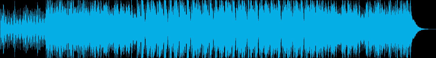 ほのぼのした雰囲気のアコギのインストの再生済みの波形