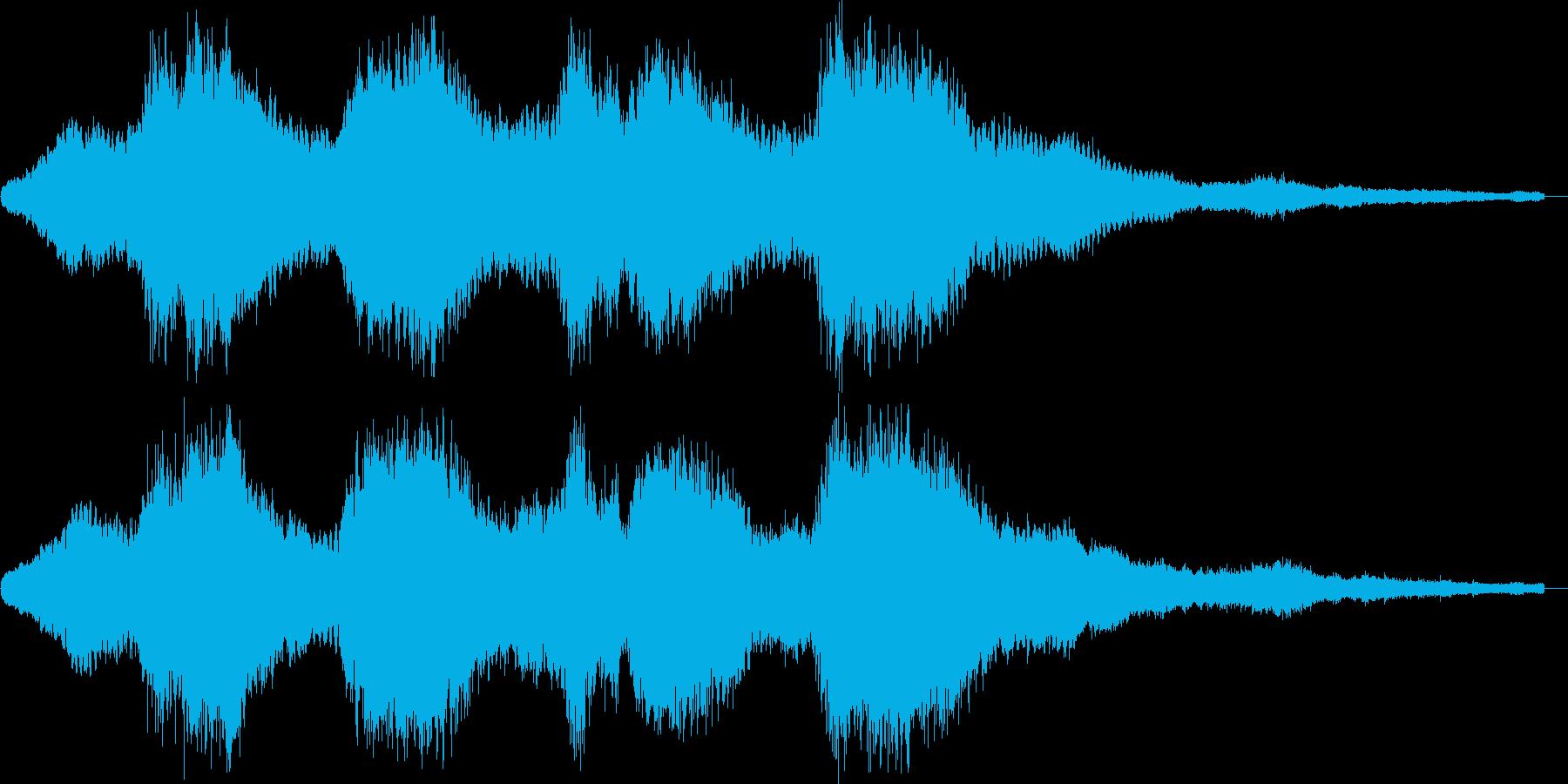 神秘的でスペイシーなアンビエントの再生済みの波形