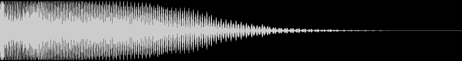 重低音で尾を引くドゥーン サウンドロゴ等の未再生の波形