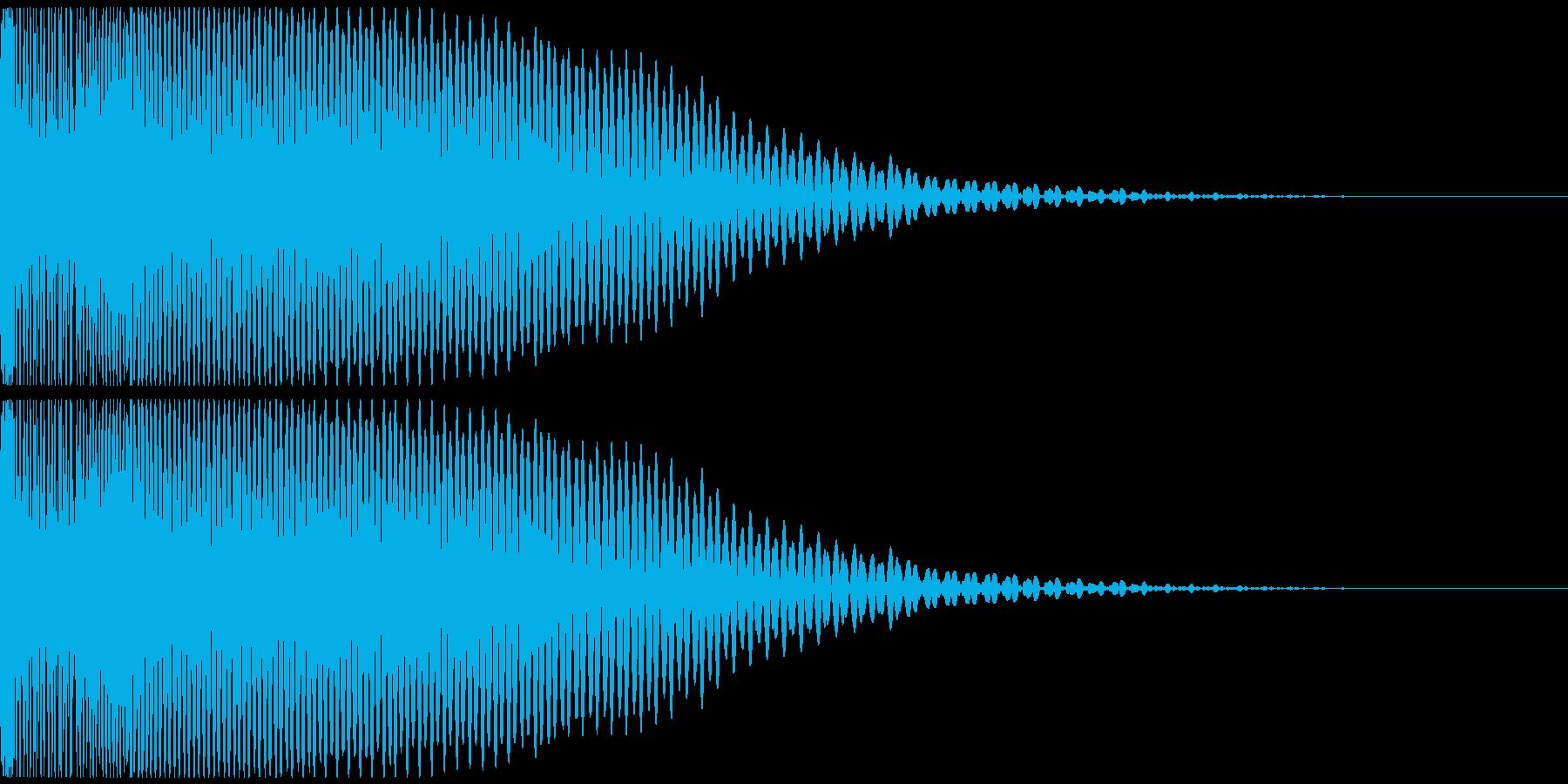 重低音で尾を引くドゥーン サウンドロゴ等の再生済みの波形