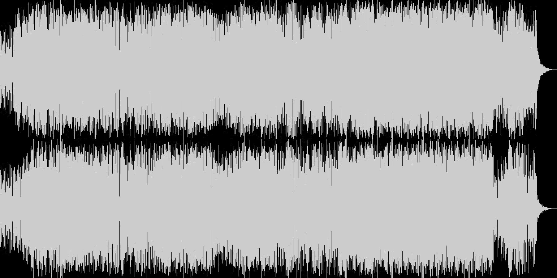 サンバ的リズムのコミカルなビッグビートの未再生の波形